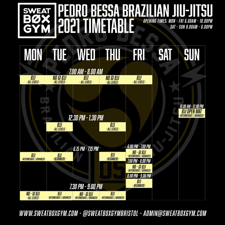 June 2021 Bjj Timetable